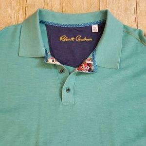 Robert Graham XXL Floral Short Sleeve Polo Shirt